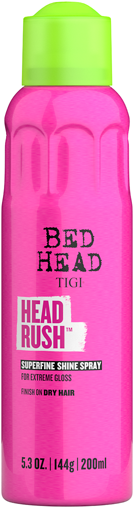 Headrush<sup>TM</sup>  Aerosol Brillo para un Cabello Suave y Brillante